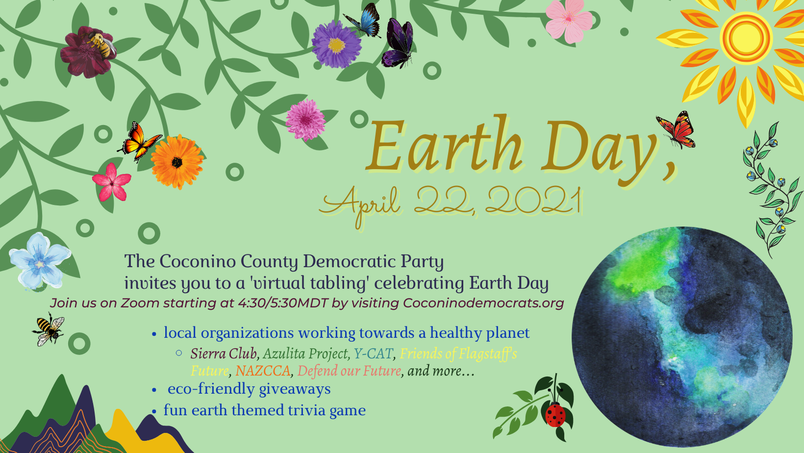 Earth Day Virtual Tabling Event